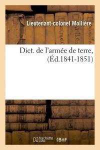 Dict  de l Armée de Terre  ed 1841 1851