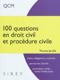 100 questions en droit civil et procédure civile