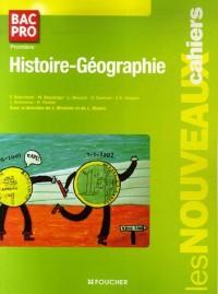 Nouveaux cahiers histoire-géographie 1e bac pro (Ancienne Edition)