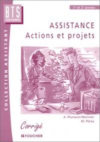 Assistance : Actions et projets, BTS Secrétariat - Corrigés