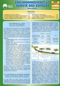 Biologie : Tome 3, Environnement et survie des espèces