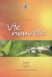 La Bible vie Nouvelle : Avec notes d'étude, Couverture souple, tranche or, avec boitier