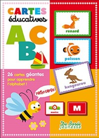 Boîtes éducatives Alphabet : 26 cartes géantes pour apprendre l'alphabet