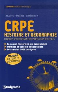 CRPE Histoire et géographie : Concours de recrutement des professeurs des écoles