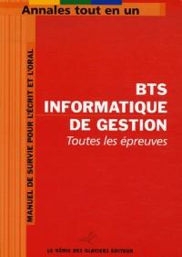 BTS Informatique de gestion : Toutes les épreuves