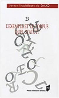 L'exemple et le corpus : quel statut ?