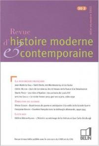 Revue d'histoire moderne et contemporaine, N° 50-3 Juillet-Sept :