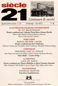 Revue Siecle 21 N26