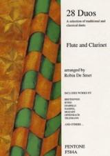 Twenty Eight Duos For Flute And Clarinet. Partitions pour Flûte Traversière, Clarinette