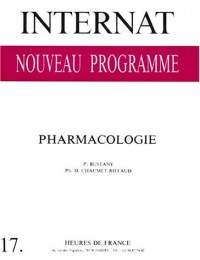 Internat nouveau programme: pharmacologie