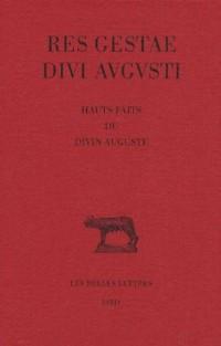 Res Gestea Divi Augusti : Hauts faits du divin Auguste
