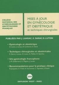 Mises à jour en gynécologie et obstétrique et techniques chirurgicales