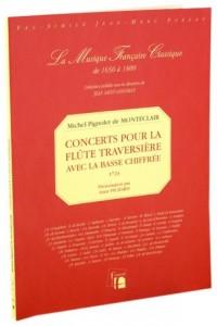 Concert pour la flûte traversière avec la basse chiffrée.