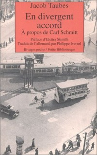 En divergent accord : A propos de Carl Schmitt