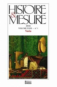 Histoire & Mesure 31 1