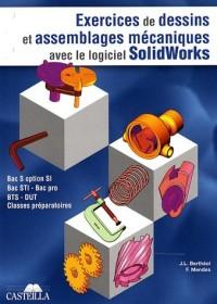 Exercices de dessins de pièces et d'assemblages mécaniques avec le logiciel SolidWorks