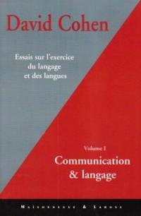 Essai sur l'exercice du langage et des langues, tome 1