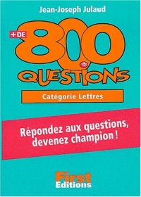 Plus de 800 questions cat. Lettres
