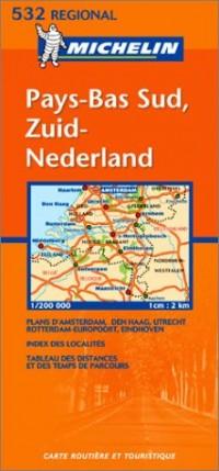 Carte routière : Zuid-Nederland - Pays-Bas Sud, N° 11532 (en néerlandais)