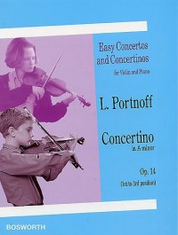 Leo Portnoff: Concertino in A Minor For Violin And Piano Op.14. Partitions pour Violon, Accompagnement Piano