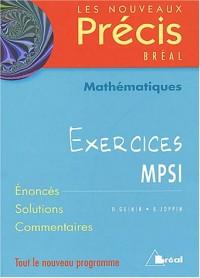 Mathématiques MPSI : Exercices