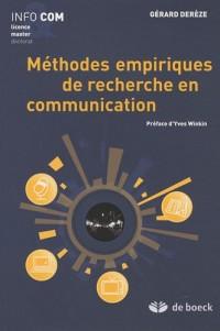 Méthodes empiriques de recherche en communication