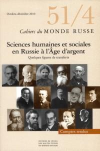 Cahiers du Monde Russe N 51 4