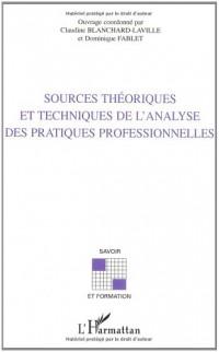 Sources theoriques et techniques de l'analyse des prat