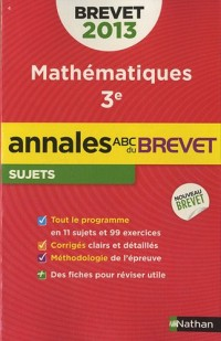 Annales Brevet 2013 Maths Non Corriges N24