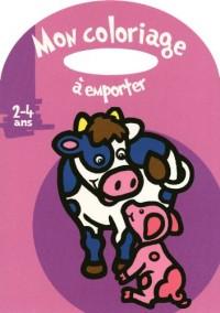 Mon coloriage à emporter (Vache) : 2-4 ans