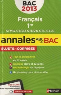 Annales Bac 2013 Français Première St Corriges N19
