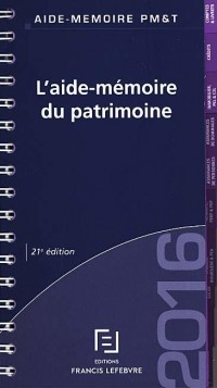 Aide Mémoire du Patrimoine 2016