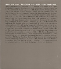 Massilia 2005. Annuaire d'Études Corbuseennes