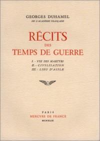 Récits des temps de guerre, 2 volumes (livre non massicoté)