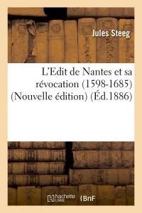 L Edit de Nantes  N ed  ed 1886