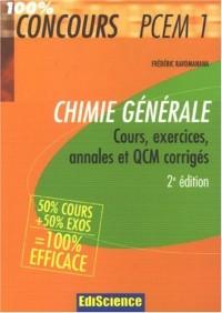 Chimie générale PCEM 1 : Cours, exercices, annales et QCM corrigés