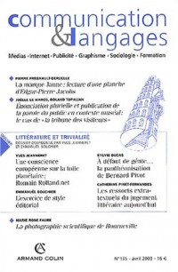 Communication & Langages, N° 135 Avril 2003 :