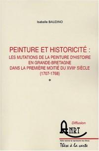 Peinture et historicité : les mutations de la peinture d'histoire en Grande-Bretagne dans la première moitié du XVIIIe siècle (1707-1768)
