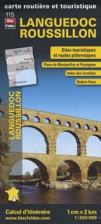 Languedoc Roussillon, carte régionale, routière et touristique