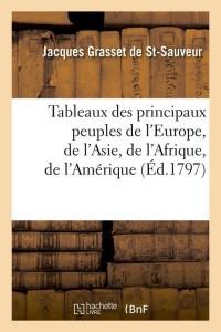 Tableaux des principaux peuples  ed 1797