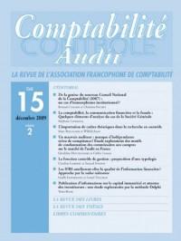 Revue Compta Controle Audit T15 Vol 2