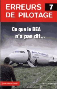Erreurs de pilotage 7. Ce que le BEA n'a pas dit...