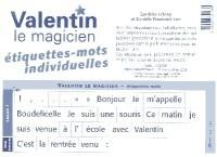 ETIQUETTES MOTS ELEVE VALENTIN LE MAGICIEN 2006
