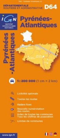 D64 Pyrenees-Atlantiques 1/200.000