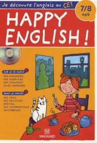 Happy English ! 7-8 ans : Je découvre l'anglais au CE1 (1CD audio)
