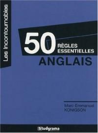 50 règles essentielles en anglais