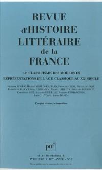 Revue d'histoire littéraire de la France, N° 2, avril 2007