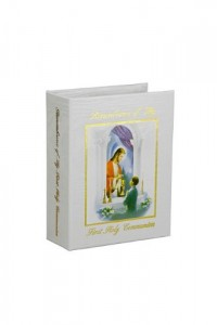 Traditions Remembrance Photo Album, Communion, Boy: Fabric Cover, Holds 100 Photos