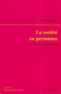 La société en personnes : Etudes durkheimiennes