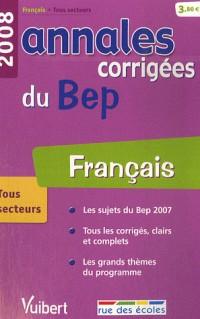 Français : Annales corrigées du BEP